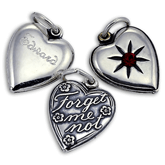 Sterling Silver Twilight Inspired Heart Charms