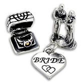Sterling Silver Wedding and Engagement Charms
