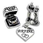 Sterling Silver Wedding Charms
