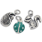 Sterling Silver Wildlife Charms