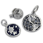 Sterling Silver World Charms
