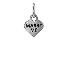 Sterling Silver Marry Me Heart Charm