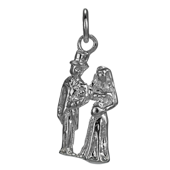 Sterling Silver Bride and Groom Charm