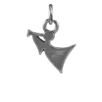 Sterling Silver Angel With Trumpet Charm