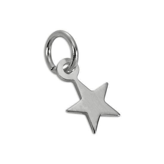 Tiny Sterling Silver Simple Star Charm