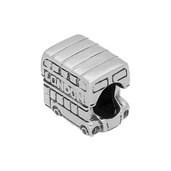 Sterling Silver London Bus Bead Charm