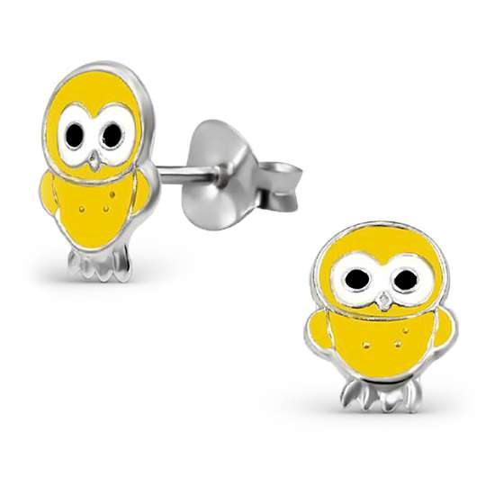 Sterling Silver Yellow Chick Stud Earrings