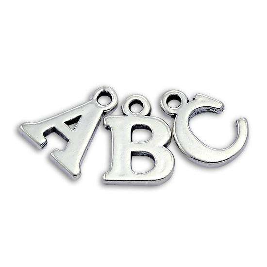 Sterling Silver Alphabet Letter Charm A - Z