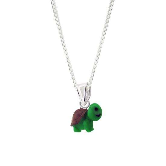 Sterling Silver Turtle Charm Necklace
