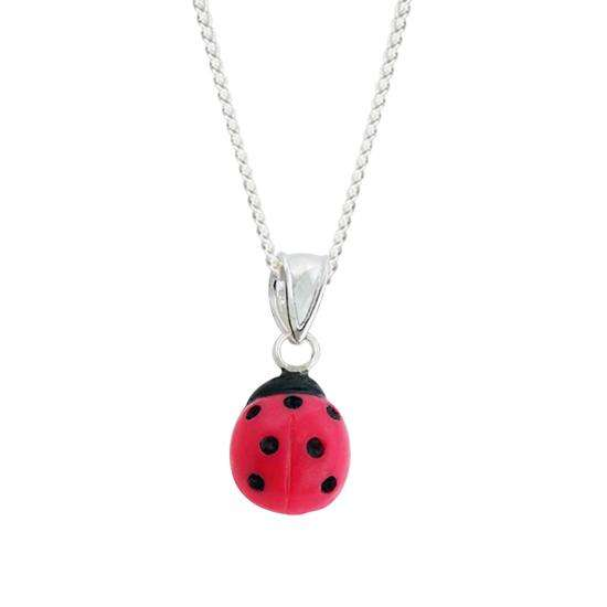 Sterling Silver Ladybird Charm Necklace