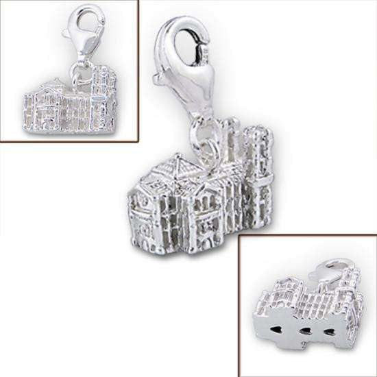 Sterling Silver Westminster Abbey Clip on Charm