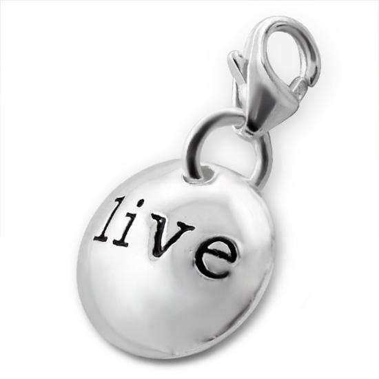 Sterling Silver Live Pebble Clip on Charm