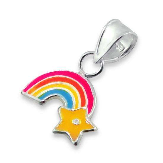 Sterling Silver Tiny Rainbow Shooting Star Charm
