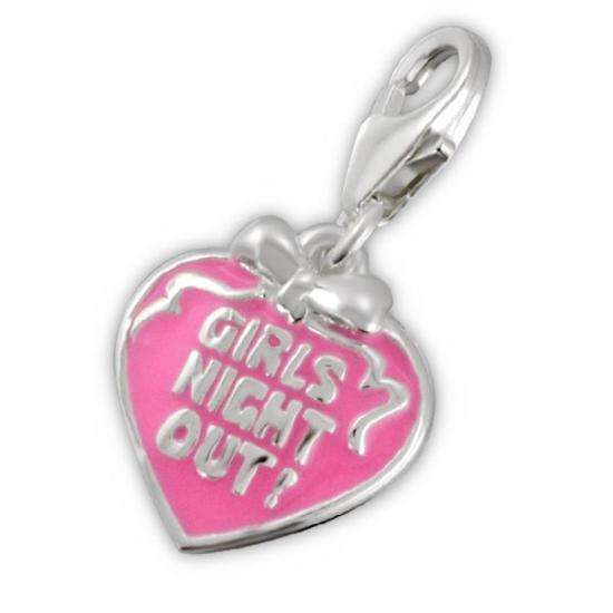Sterling Silver Girls Night Out Clip on Charm