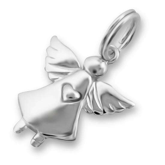 Sterling Silver Sweet Flying Angel Charm