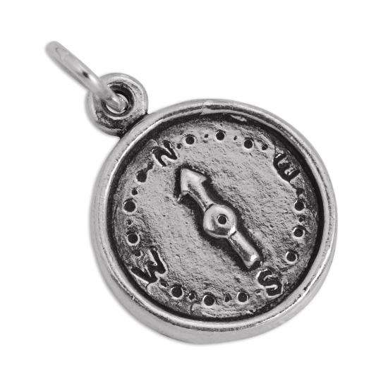 sterling silver compass charm thecharmworks