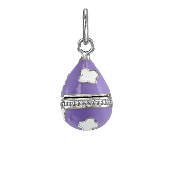 Sterling Silver Lilac Faberge Style Egg