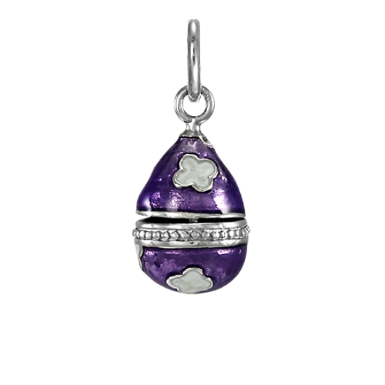 Sterling Silver Purple Faberge Style Egg