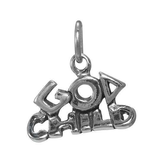 Sterling Silver God Child Charm