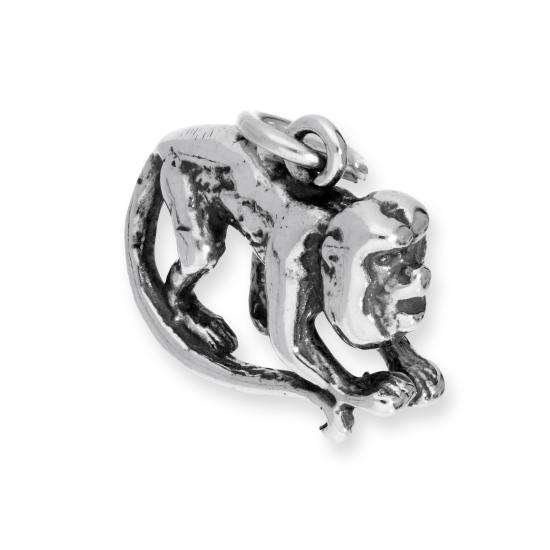 Sterling Silver Howler Monkey Charm