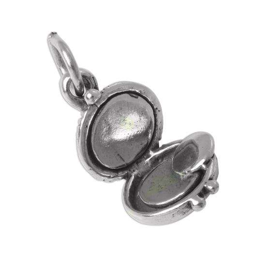 Sterling Silver 3D Make Up Compact Charm