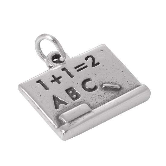 Sterling Silver Black Board Charm
