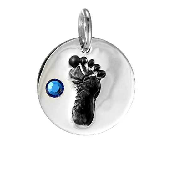 Sterling Silver December Footprint Charm