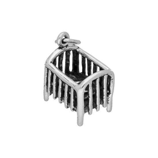 Sterling Silver Baby Cot Charm