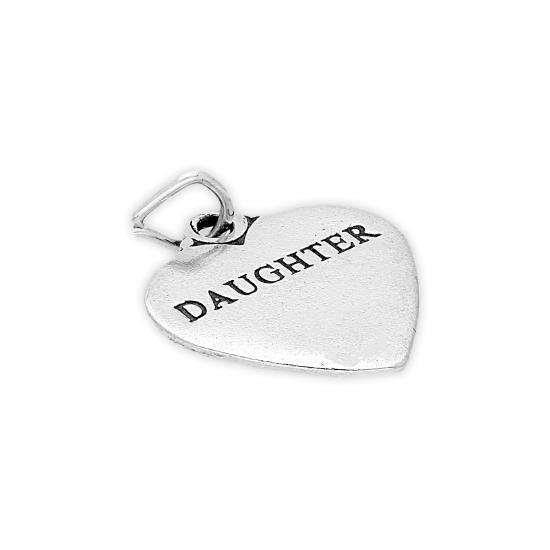 Sterling Silver Daughter Heart Charm