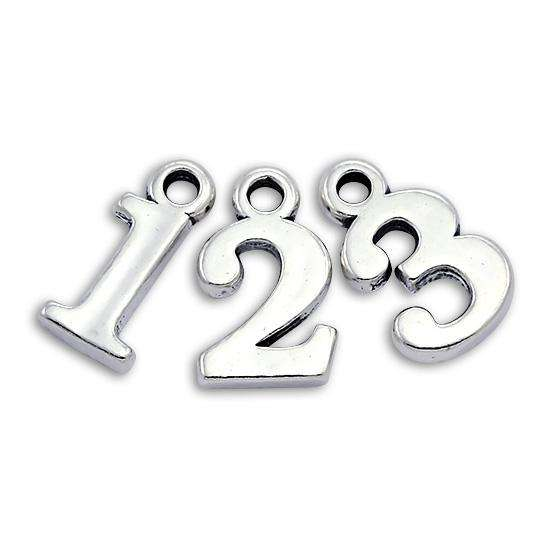 Sterling Silver Number Charms 0 - 9