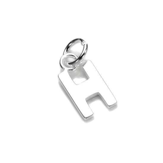 Silver Letter H: Sterling Silver Letter H Charm