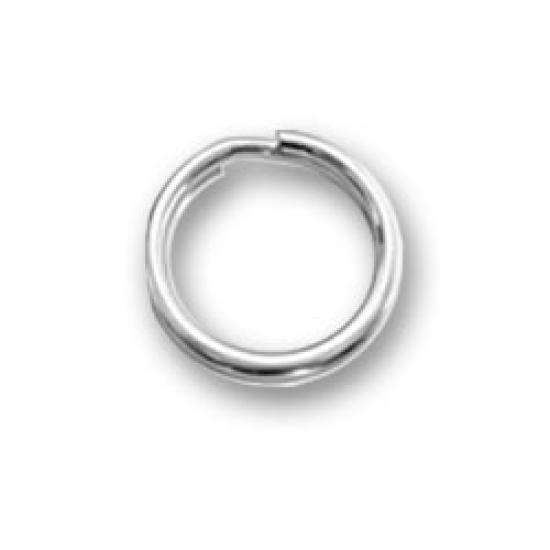 2 x 6mm Sterling Silver Split Ring