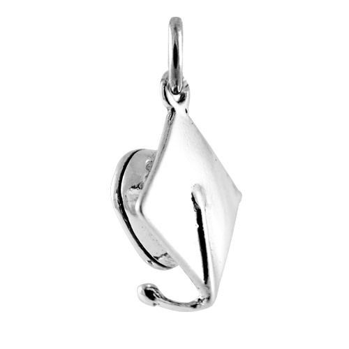 Sterling Silver Mortarboard Charm