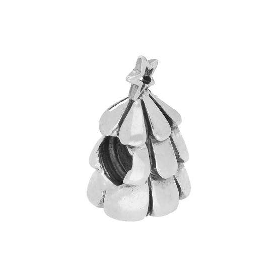 Sterling Silver Christmas Tree Bead Charm