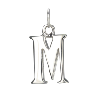 Sterling Silver Alphabet Letter M Charm