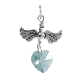 Sterling Silver Love Flight March Birthstone Charm