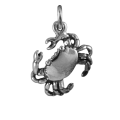 Sterling Silver Cancer Crab Charm