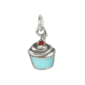 Sterling Silver Blue Enamelled Cupcake Charm