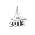 Sterling Silver Graduation 2013 Charm