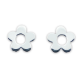 Sterling Silver Cute Flower Stud Earrings