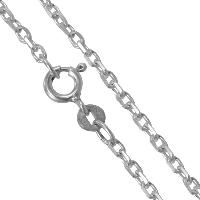 Sterling Silver Diamond Cut Trace 18 Inch Chain