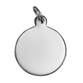 Sterling Silver Engravable Round Pendant