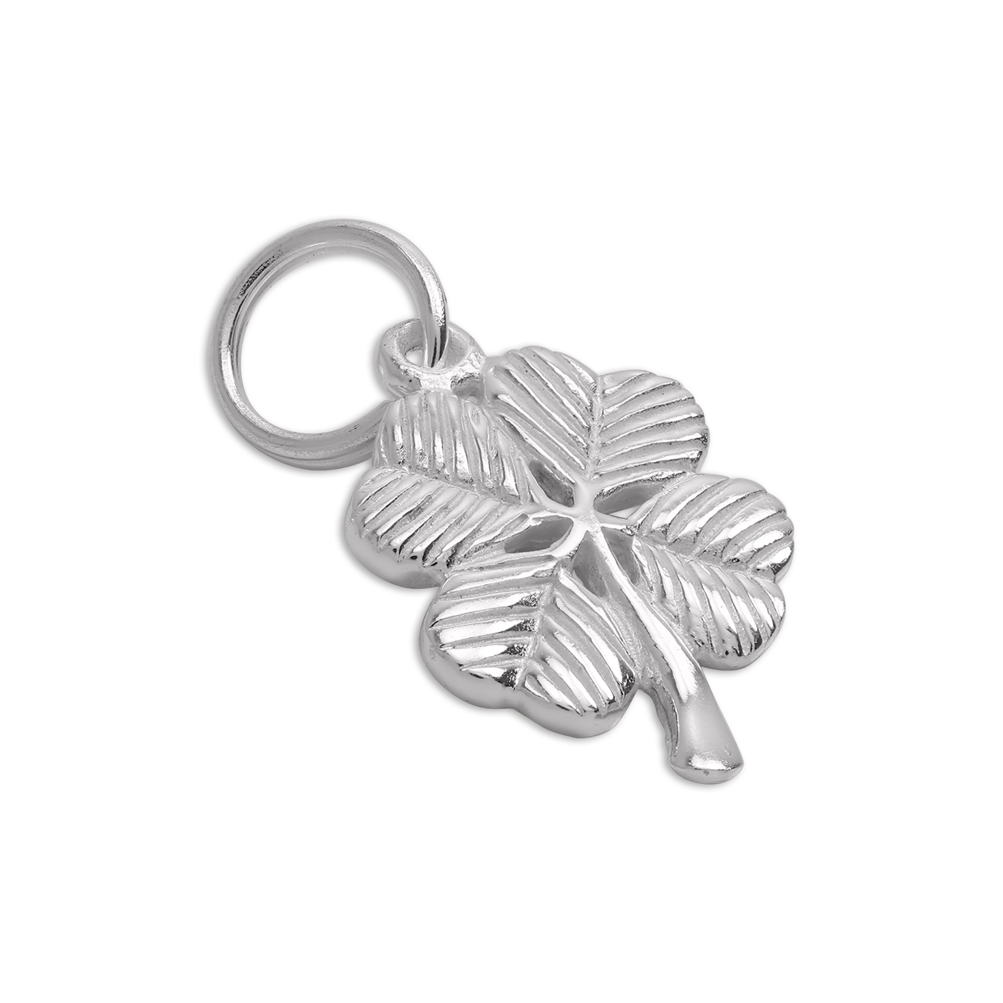 An image of Sterling Silver Shamrock Leaf Charm