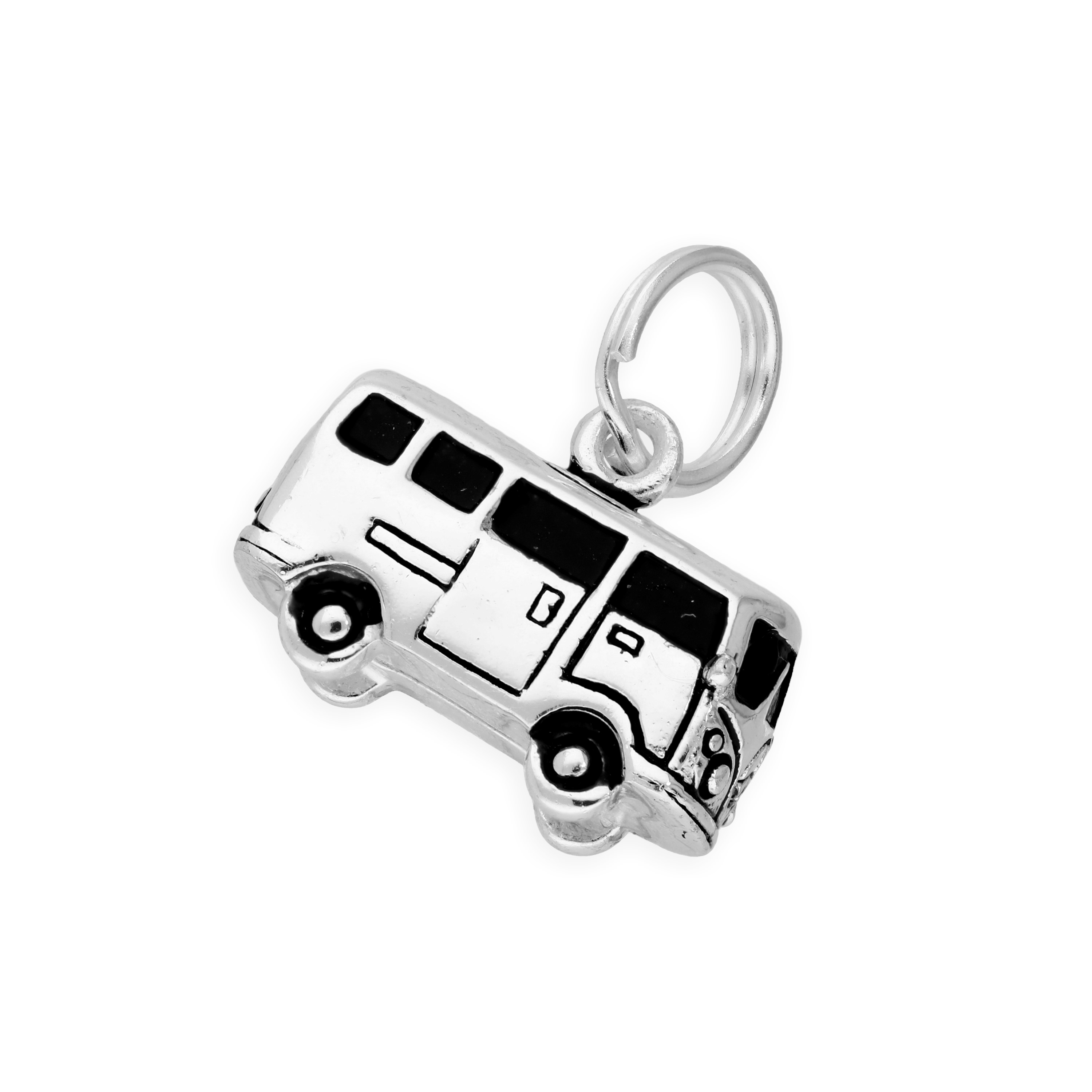 An image of Sterling Silver Retro Campervan Charm