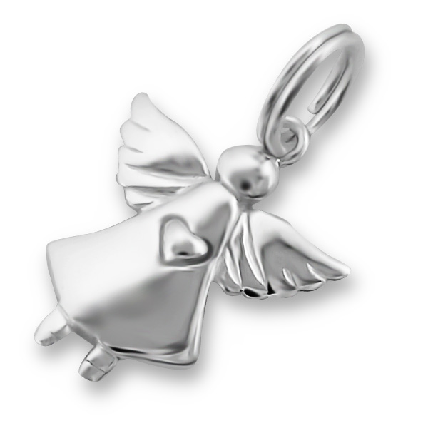 An image of Sterling Silver Sweet Flying Angel Charm