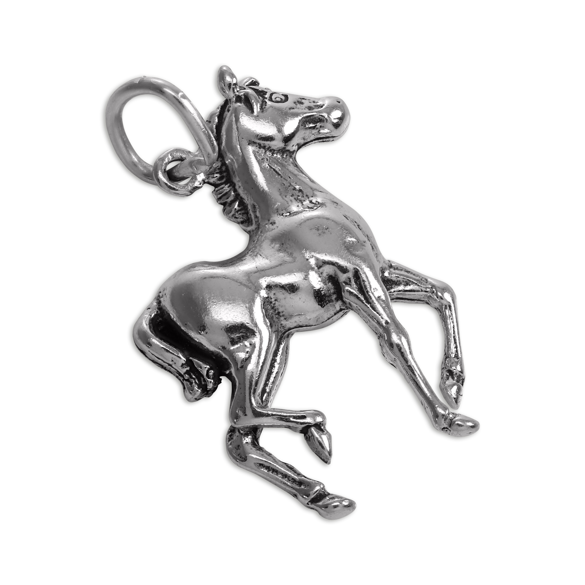 An image of Sterling Silver Pony Charm