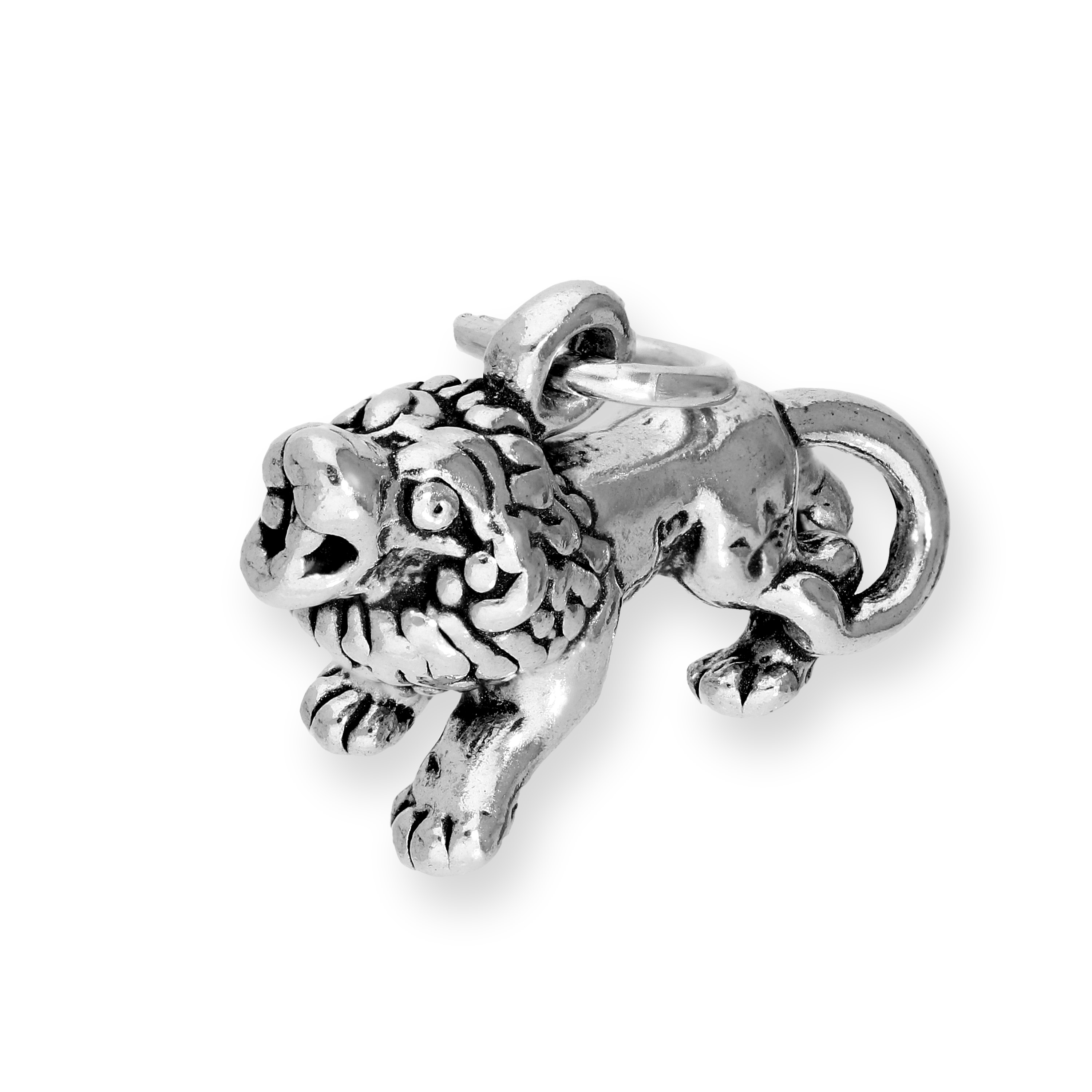 An image of Sterling Silver Roaring Lion Charm