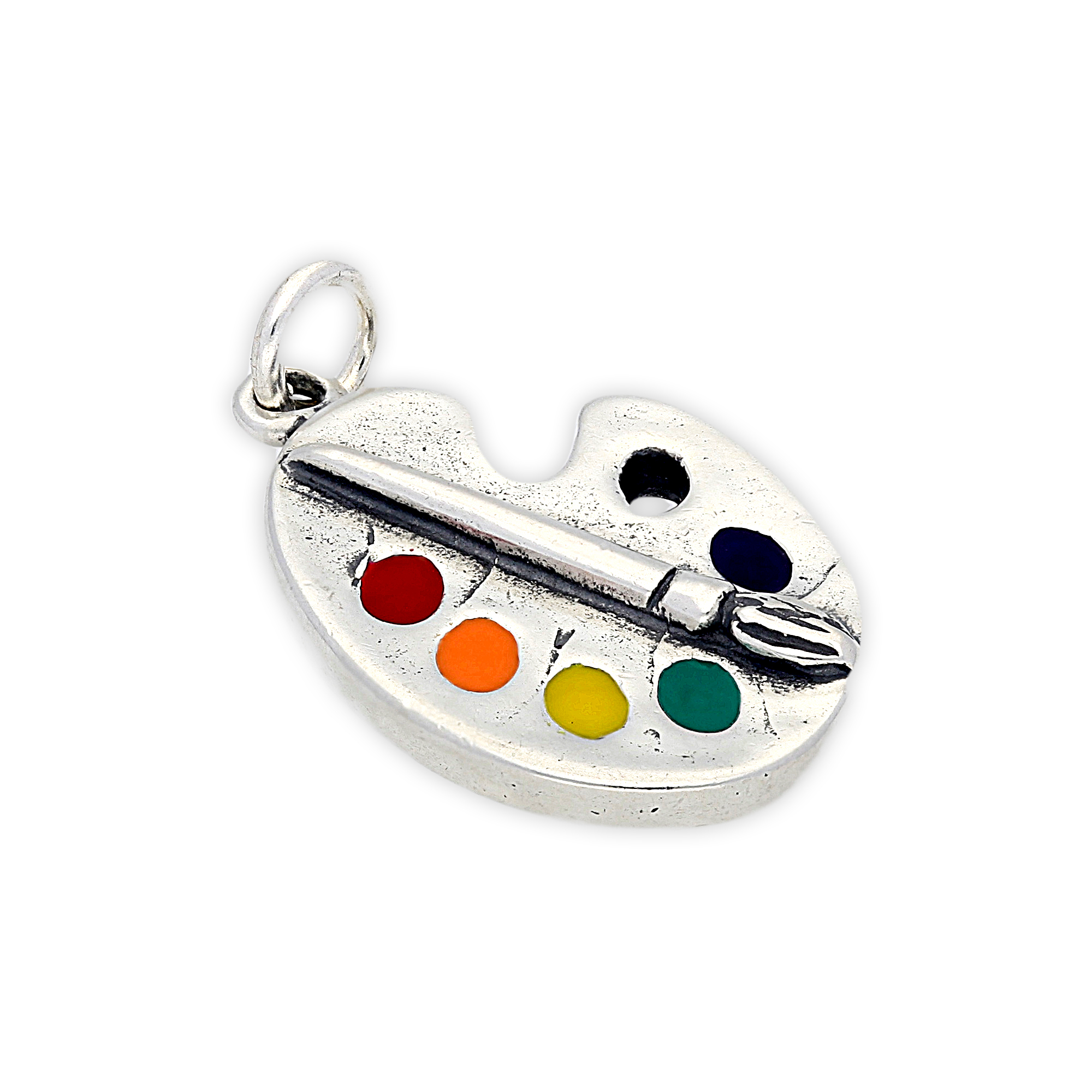 TheCharmWorks Sterling Silver Artist Palette Charm 5vJcs