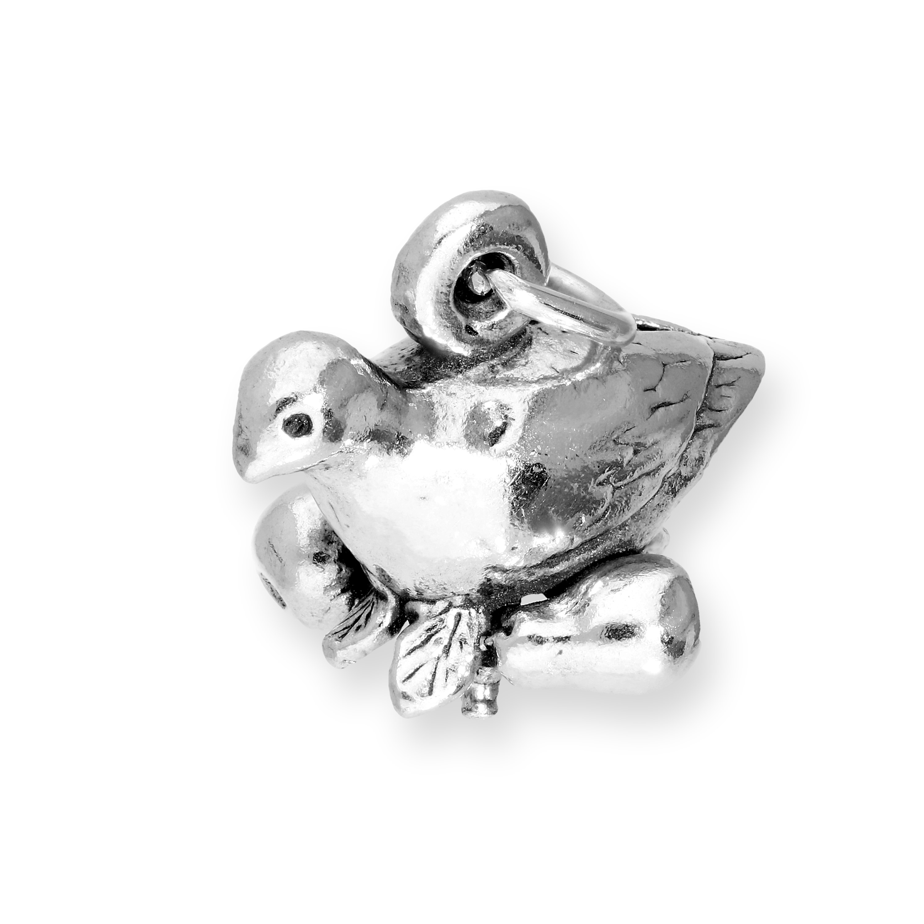 An image of Sterling Silver Partridge in a Pear Tree Charm