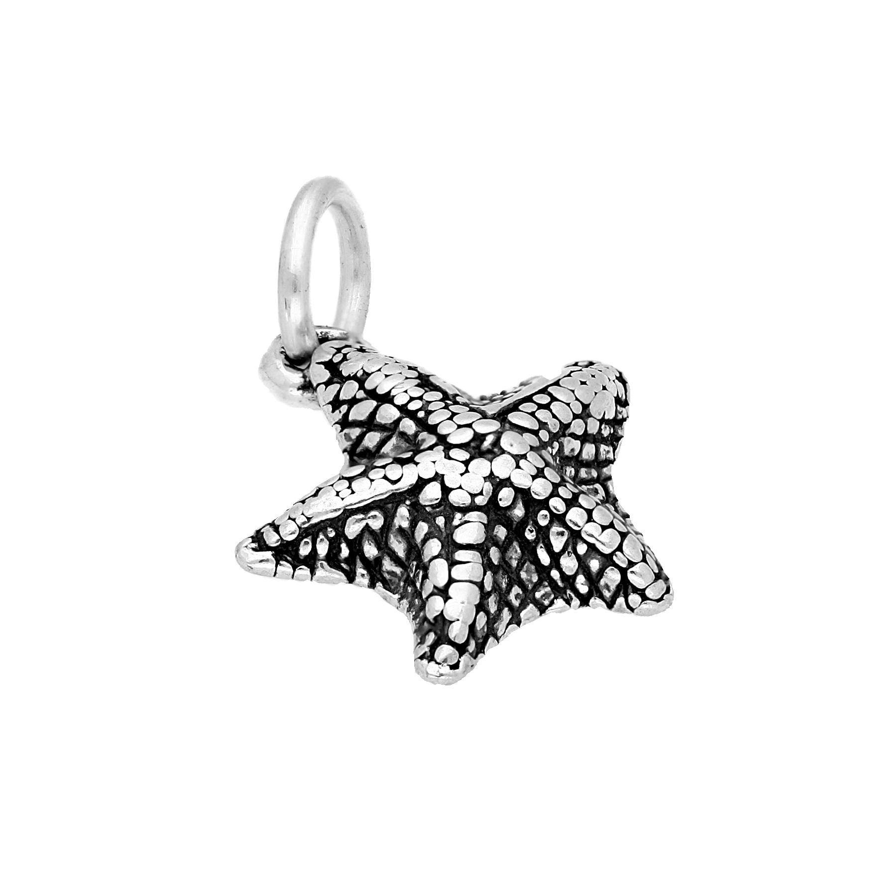 An image of Sterling Silver Bat Starfish Charm